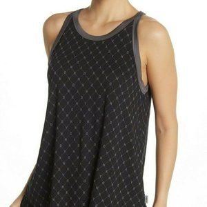 NWT! DKNY All over Logo High-Low Hem Muscle Tank